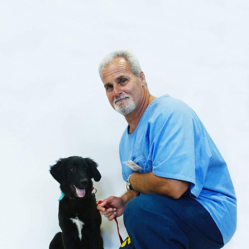 John D and black pup