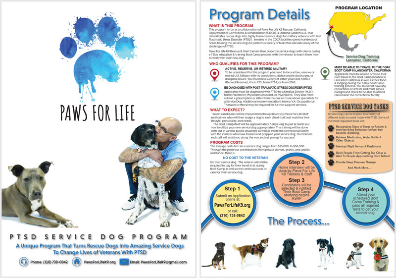 Paws For Life PTSD Training Program Brochure
